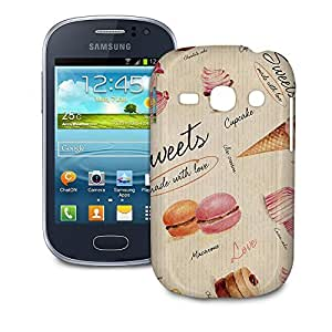 Phone Case For Samsung Galaxy Fame S6810 - Sweets & Desserts Hardshell Slim