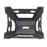 Acko Black 18 Inches Non Slip Folding Step Stool