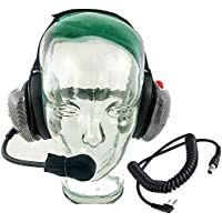 Crew Headset with Baofeng or Kenwood Coil Cord