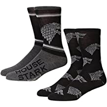 Game of Thrones Stark Allover Sigil Adult 2-pack Crew Socks