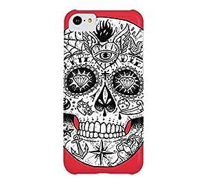 Calavera Skull iPhone 5c Alizarin crimson Barely There Phone Case