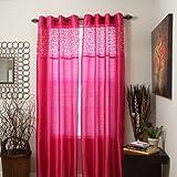 Cheap Bedford Home Alla Grommet Curtain Panel, 108-Inch, Fuchsia