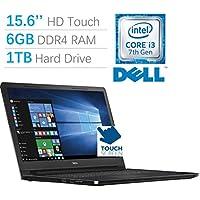 2017 New Edition Dell Inspiron 5000 15.6 HD (1366x768) Touchscreen Laptop PC, Intel Core i3-7100U Processor 2.4GHz, 6GB DDR4 RAM, 1TB HDD, HDMI, Bluetooth, DVD-RW, MaxxAudio Pro, Windows 10 Home