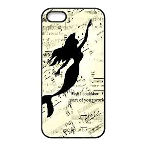 Protective TPU Rubber Coated Phone Case for iPhone 5S / iPhone 5 - Mermaid by icecream design