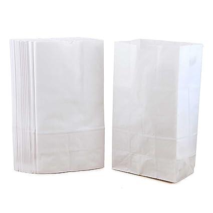 Hygloss - Bolsas de papel blancas (150 unidades): Amazon.es ...
