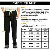 NEIKU Men's Sweatpants Open Bottom Straight Leg