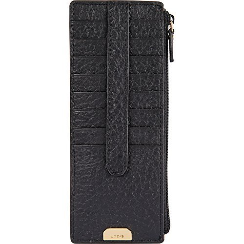 Lodis Borrego Under Lock and Key Credit Card Case with Zipper (Black)