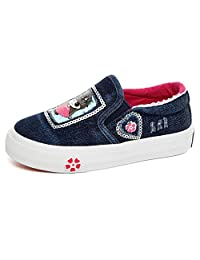 Bumud Kids Girl's Sequin Canvas Shoe Slip on Loafers (Toddler /Little Kid)