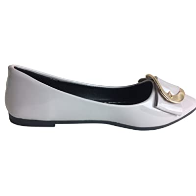 Abby Womens Wedding Party Dress Casual Driving Work Shallow Mouth Pointed Toe Slip On Flats Pump