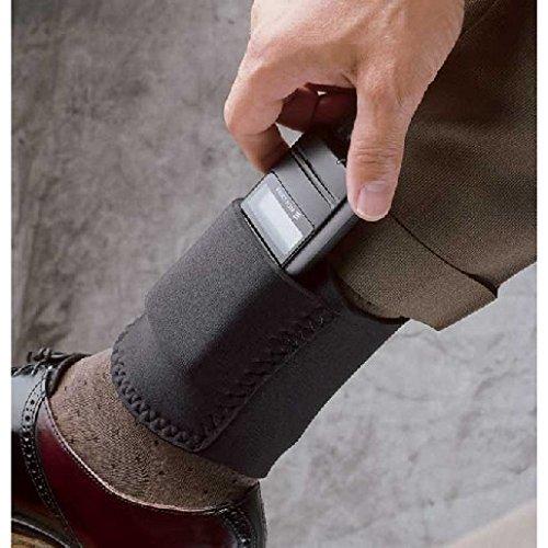 DeSantis Ambidextrous - Black - Ankle Cell Phone Holster N33BJZZZ0 from DeSantis