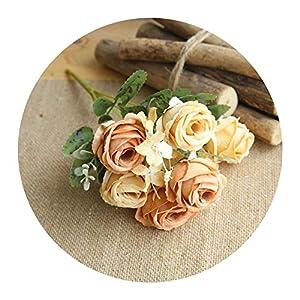 Jamais-Vu Wedding Party Decor Rose Silk Artificial Flower,2 17