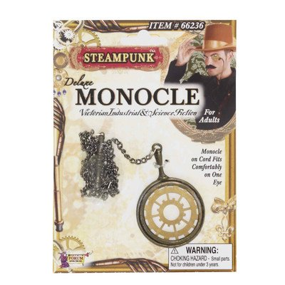 Steampunk Deluxe Monocle (Steampunk Costume Spirit Halloween)