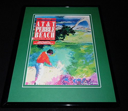 1992 AT&T Pebble Beach Framed 11x14 ORIGINAL Program Cover Leroy (Leroy Neiman Auction)