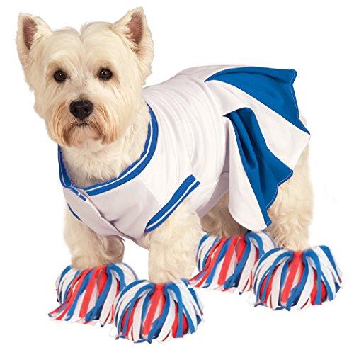 Dog Cheerleader Costumes (Rubie's Deluxe Cheerleader Pet Costume, Large)