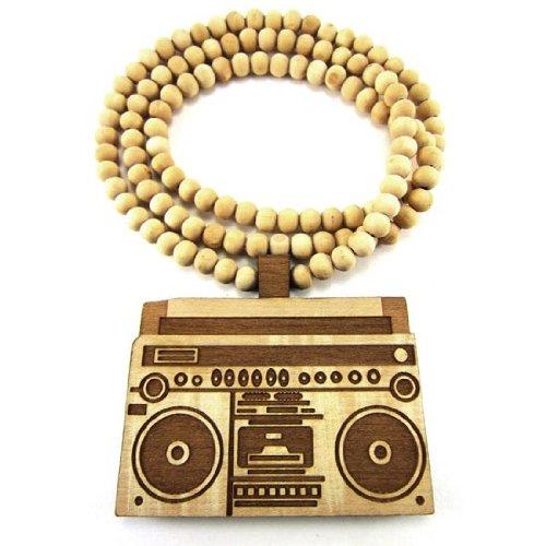 Wooden BoomBox Radio Pendant Piece 36