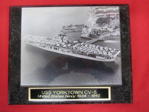 US Navy USS YORKTOWN CV 5 Collector Plaque w/8x10 Photo!