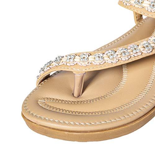 Regalo Estate 43 Donna Infradito Stile Beads Elastica Navy Blu Sandali Suola Punta Estive In Piatti Comoda Da Con 1 37 Scarpe Boemo Pantofole Spiaggia Nero Gracosy A Dunlop Perline Strass Beige dqwCExIFd