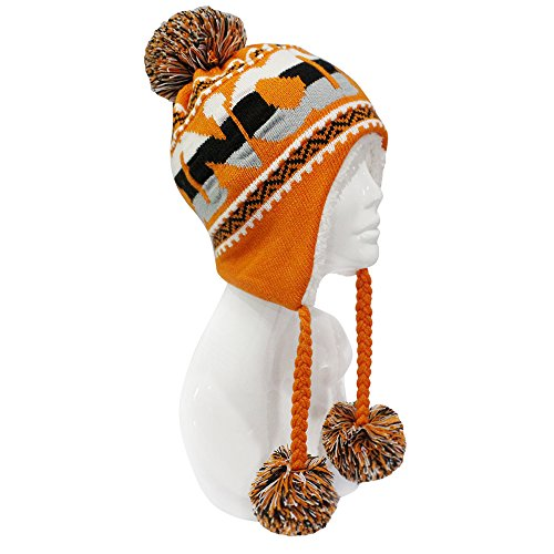 f56e2ca696a ChoKoLids Football Team City Name Knitted Pom Pom Earflap Winter Hat - 23  Cities