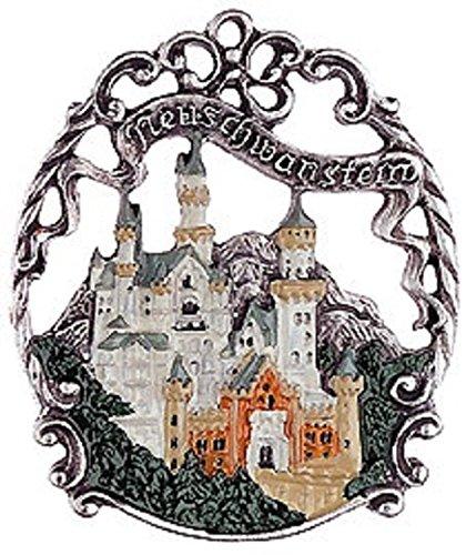 Neuschwanstein Castle German Pewter Christmas Ornament
