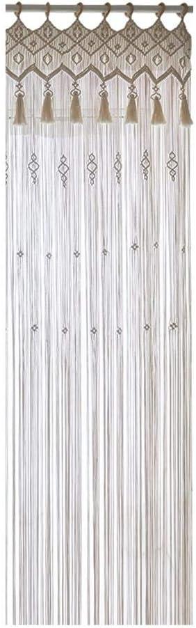 PITCHBLA coton /à la main macram/é Tenture tapisserie Handwoven macram/é Rideau de mariage Toile de fond Cuisine mur Porte Rideaux Arche de d/écoration int/érieure pour la d/écoration de mariage