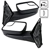 06 dodge tow mirrors - Towing Mirror Fits 2002-2008 Dodge Ram 1500 2002-2009 Ram 2500 3500 | Side View Towing Mirrors Manual LH RH by IKON MOTORSPORTS | 2003 2004 2005 2006 2007