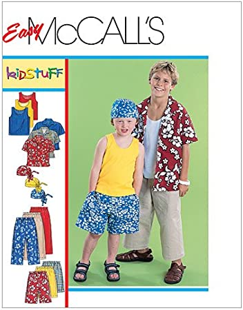 Shorts and Pants Size ADT SML-MED-LRG-XLG McCall Pattern Company M6972 Mens//Boys Shirt