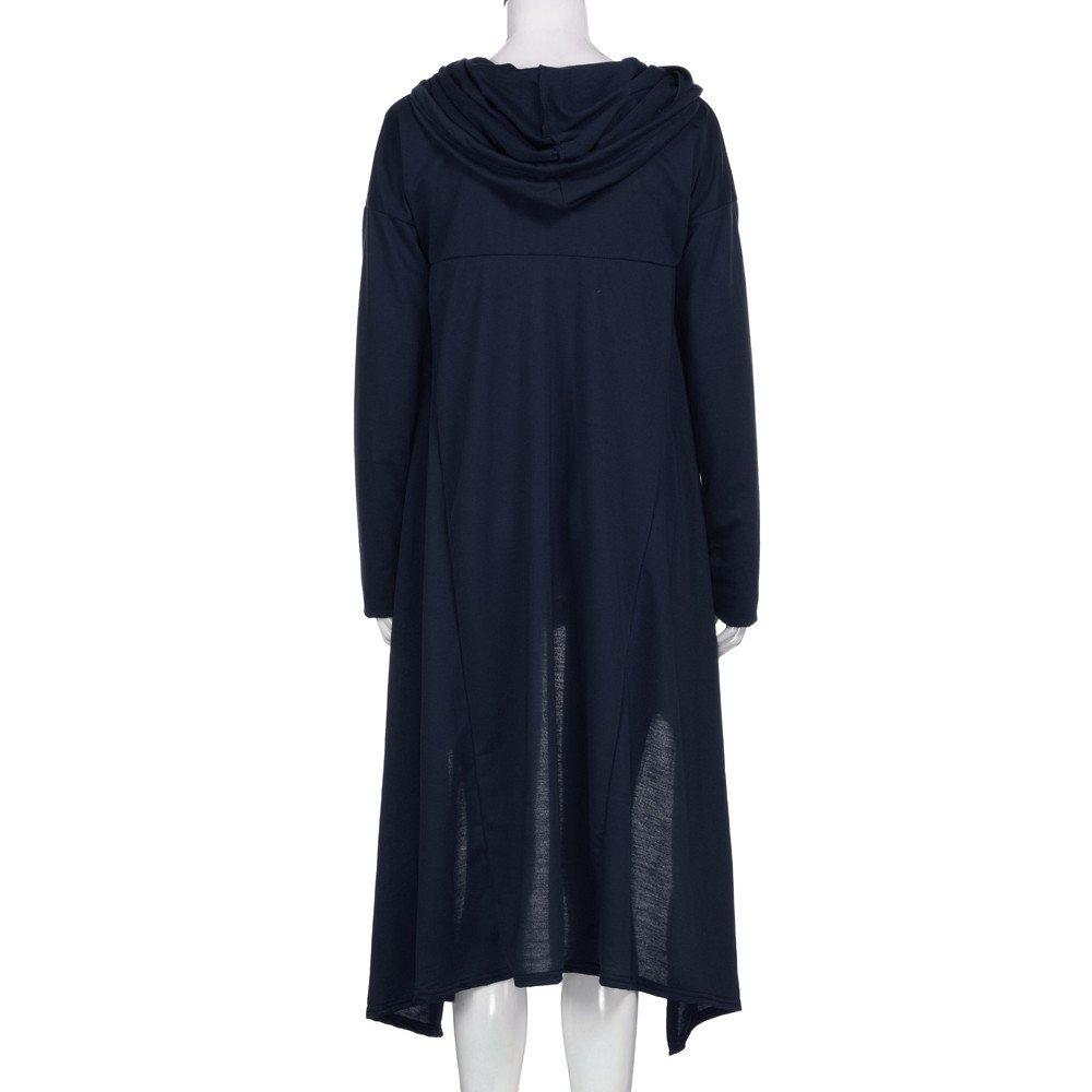 Asymmetric Blouse Auwer Elastic Scarf Collar Loose Hoodies Long Tunic Dress for Women