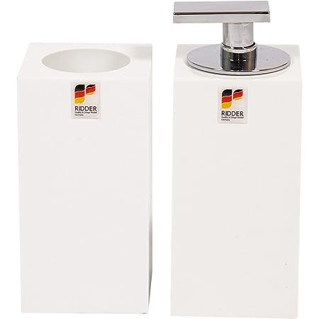 Ridder Rom - Juego de dos dispensadores de jabón y vaso de ...