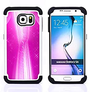 For Samsung Galaxy S6 G9200 - white abstract stars vibrant girl Dual Layer caso de Shell HUELGA Impacto pata de cabra con im??genes gr??ficas Steam - Funny Shop -