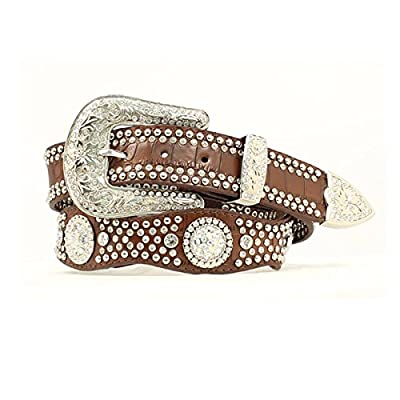 Nocona Belt Co. Women's Rhinestone Embellished Croc Print Leather