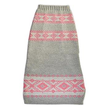 Amazon.com : The Fair Isle Dog Sweater (S, Grey/Pink) : Pet Supplies