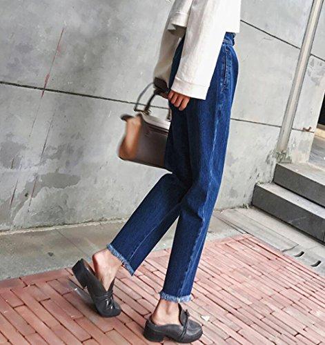 sottile a mina vita Donnai nuovo blue MDRW pantaloni direttamente ravanello pantaloni bud Jeans pantaloni jeans haren inverno Da donna a piedi alta wSxZxY0a