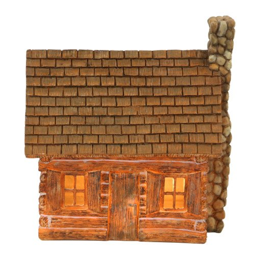 Outlet Night Light Log Cabin 9 Inch Rustic Lodge Decor