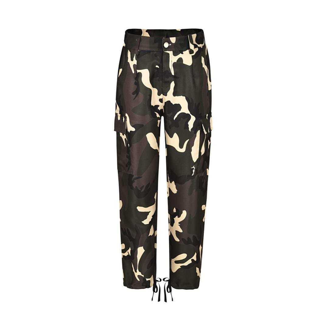 Amazon.com: Dingji Womenss Camouflage Pants, Fashion Camo Casual Cargo Joggers Cool Trousers Hip Hop Rock Trousers: Clothing