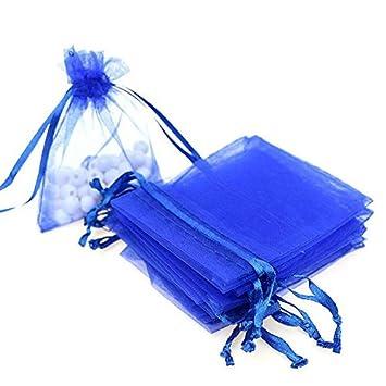 Fiesta Randomly Sent WEIHUIMEI 100 Bolsas de Regalo de Organza para Boda Color al Azar 7 x 9cm Organza