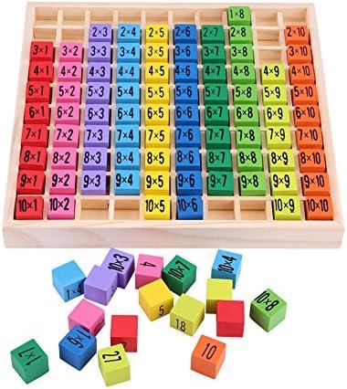 Zerodis Matemáticas Educativos Juguetes de Madera, Niños Matemáticas Aprendizaje Temprano Puzzle Toy 10x10 Tabla de Multiplicación para Preescolares Kindergarten Niños: Amazon.es: Juguetes y juegos