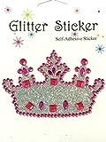 Rhinestone Pink Princess Crown Stickers Birthday Invitation Gift Favor Scrapbook
