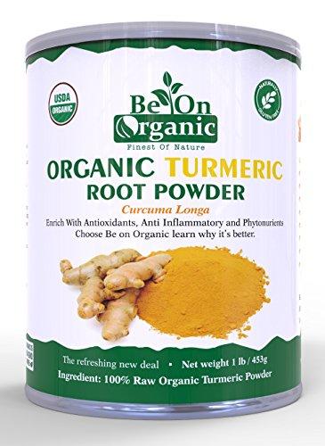 Organic Turmeric Root Powder 1 lb Caniest, 5% Curcumin By Be On Organic