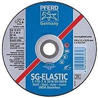 """PFERD 61105 Performance line SG Grinding Wheel, Type 27, Premium Aluminum Oxide, 4-1/2"""" Diameter x 1/4"""" Thickness, 7/8"""" Arbor Hole, 13300 rpm"""
