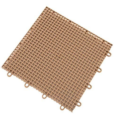 IncStores Outdoor Patio Interlocking Rugged Grip-Loc Tiles - 16 Pack - ()