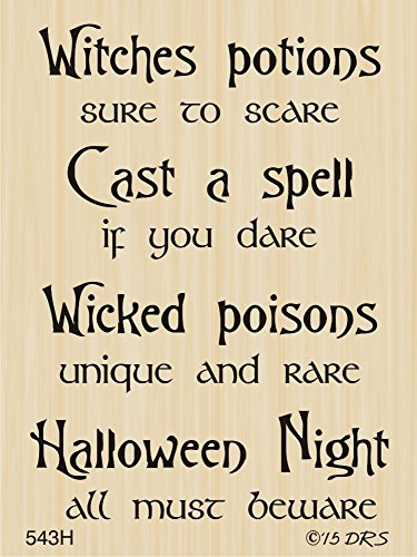 Poison Potions Halloween Greeting Rubber Stamp By DRS Designs]()