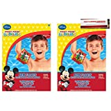 Disney Mickey Mouse Plastic Arm Floats Swimming Party 2 Pairs (Plus Party Planning Checklist by