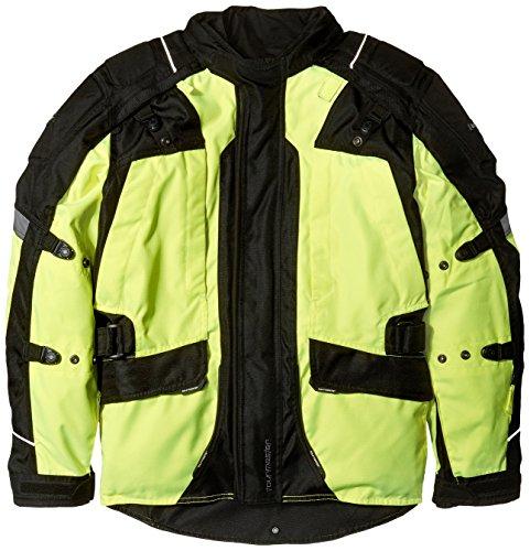Tourmaster Transition Series 4 Men's Textile Motorcycle Touring Jacket (Hi-Viz/Black, ()