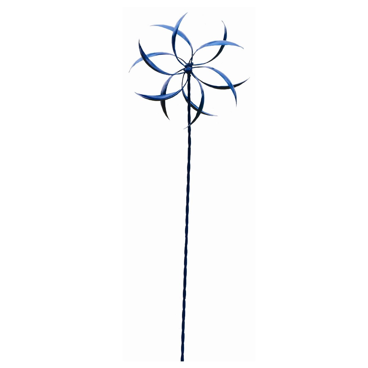 Ancient Graffiti Feather Staked Kinetic Spinner, Blue