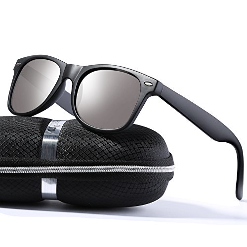 wearPro Wayfarer Sunglasses for Men Women Vintage Polarized Sun Glasses WP1001( - Cross Silver Wayfarer