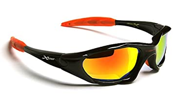 X-loop Sonnenbrillen Sport - Radfahren - Skifahren - Tennis - Motorrad - Mtb / 010P Schwarz Orange KeY39V43k2