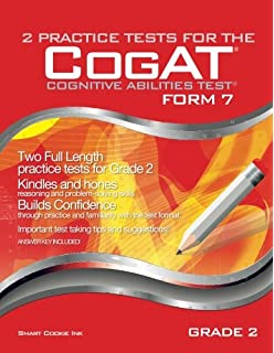 Amazon cogat practice test grade 2 black white 2 practice tests for the cogat form 7 grade 2 level 8 fandeluxe Gallery