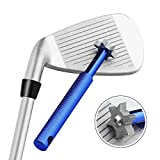 Jahyshow Golf Club Groove Sharpener Tool with 6 Cutters 3U 3V, Golf Club Re-Grooving Cleaning Tool 6-Tip, Golf Accessories Pitching, Sand, Lob, Gap, and Approach Wedges and Utility Clubs-Blue