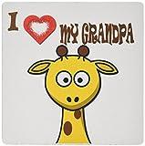 Best love Dad Grandpas - 3dRose I Love My Grandpa. Popular Saying. Giraffe Review