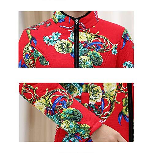 Otoño Mujer Bozevon Calentar Outwear Chaqueta Y De Impresión Invierno Cremallera Colores Abrigo D Clásico 10 Espesar Estilo q7qTnEWY